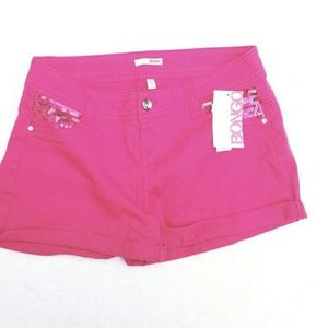 #126 NWT Hot!! Pink 28 7 Bongo Jean Shorts